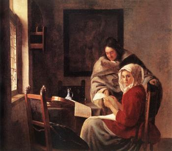 Johannes Vermeer : Girl Interrupted at her Music